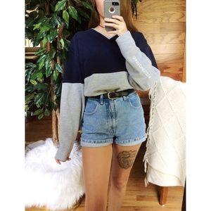 🌿 Vintage Cozy Color Block Boyfriend Pullover 🌿